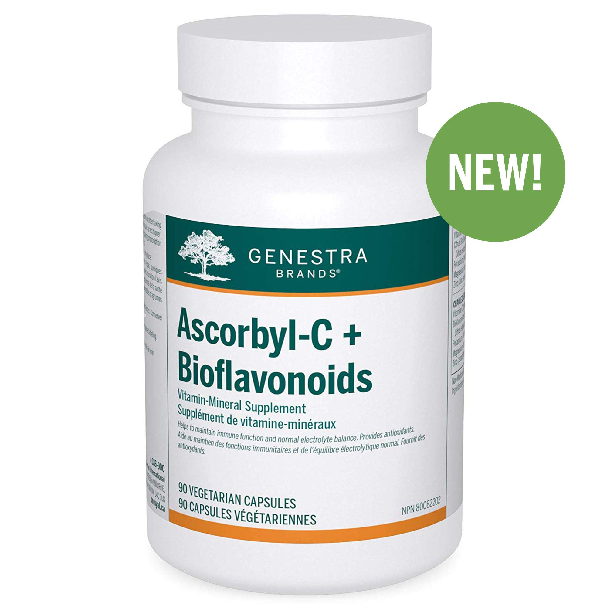 Genestra Brands - Ascorbyl-C + Bioflavonoids - Vitamin-Mineral Supplement - 90 Vegetarian Capsules