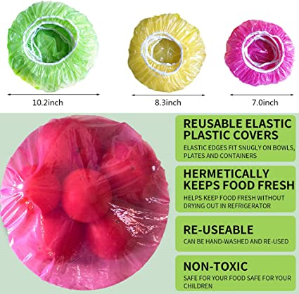EASY WAY FRESH WRAP PLASTIC BOWLS ASSORTED SIZES 24 PK FOOD COVER FREE POST