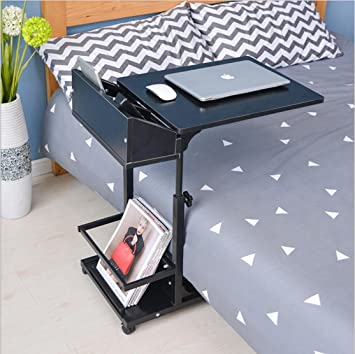 Overbed Table Adjustable C Table Portable Computer Laptop Stand Desk Modern Sofa Table With Wheels