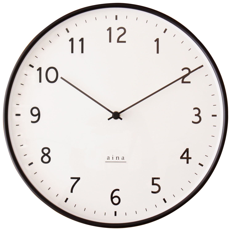 Nissho aina リンヤ 電波掛け時計ブラック B074RFVMY5ブラック