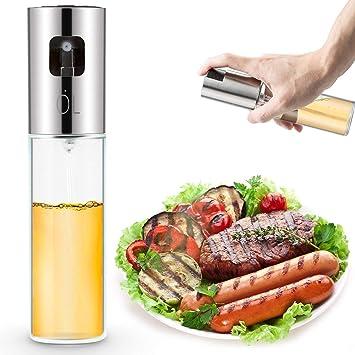 Dispensador de pulverizador de aceite, portátil 304 de acero inoxidable para asar aceite y vinagre