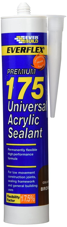Everbuild 175BN 310ml Universal Acrylic Sealant - Brown EVB175BN