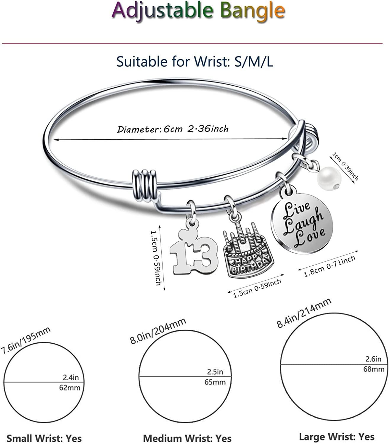 Guinea pig bracelet adjustable bangle 16th 18th 21st 30th 40th 50th birthday gifts womens jewellery