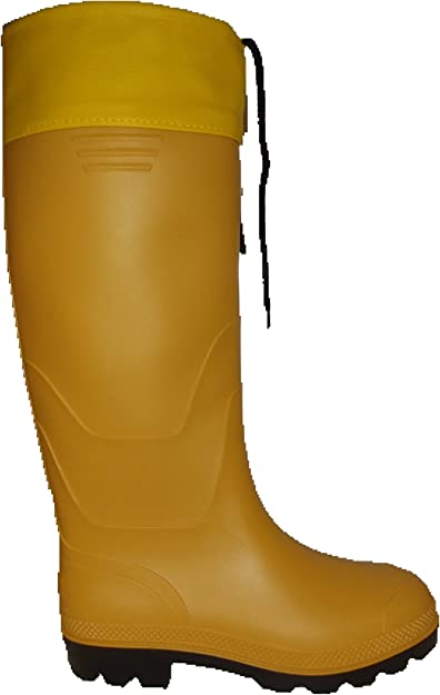 Rainwear Shop gelbe PVC Stiefel Gummistiefel Regenstiefel mit Stulpe für Damen und Herren