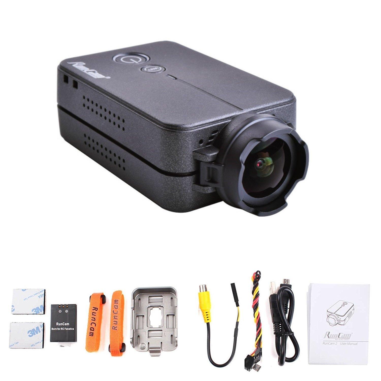 Runcam Camera FPV Drone And Remote Control Camcorder, Black