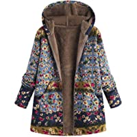 Abrigo De Invierno Mujer Abrigos para Mujer Rebajas Talla Grande Abrigo con Capucha De Manga Larga Vintage Cremallera…