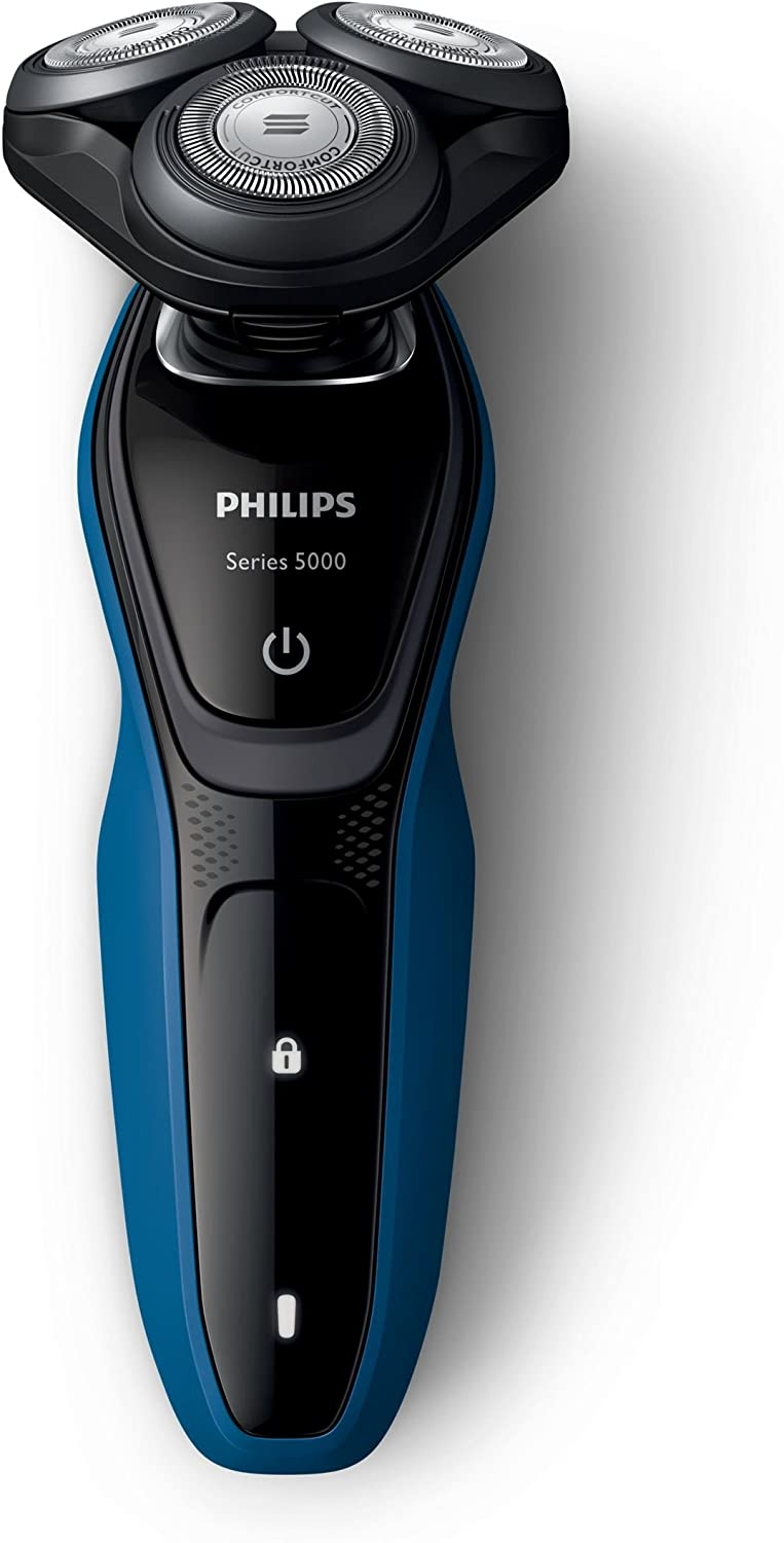 Philips Shaver series 5000 Wet and dry electric shaver S525006 ComfortCut Blade System 5direction Flex Heads SmartClick precision trimmer