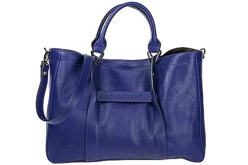 30e935c7d42ad Longchamp bolso de mano para compras en piel mujer nuevo violeta   Amazon.es  Zapatos y complementos