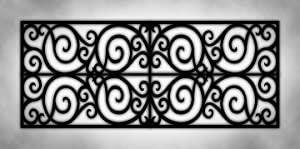 Wrought Iron Black & White Grey Marble - 2ft x 4ft Drop Ceiling Fluorescent Decorative Ceiling Light Cover Skylight Film