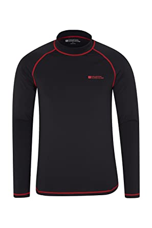 e4f37201ef Mountain Warehouse Mens Long Sleeves Rash Vest - Quick Drying Rash Guard,  Prevents Chafing,