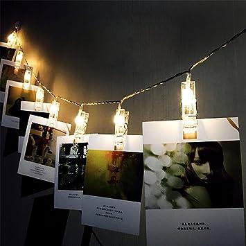Surenhap Fotolichterkette 20 LED Foto Clips Lichterketten 3M USB  Stromversorgung Für Romantische Dekoration Schlafzimmer, Fotowand