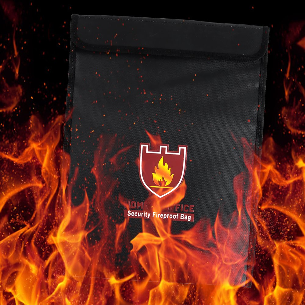 Rou-shot Fireproof Document Bag,Double Layer Fireproof and Waterproof Safe Bags, Perfect for Money, Documents, Jewelry and Passport Safes (15'' x 11'') by Rou-shot (Image #3)