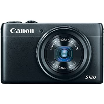 Canon PowerShot S120 12.1 MP CMOS Digital Camera with 5x Optical Zoom and 1080p Full-HD Video Point & Shoot Digital Cameras at amazon
