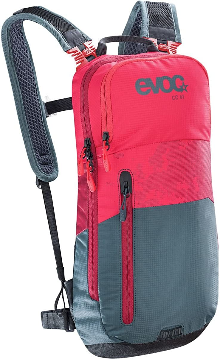 Evoc CC 6L 2L Bladder Hydration Backpack Red Slate