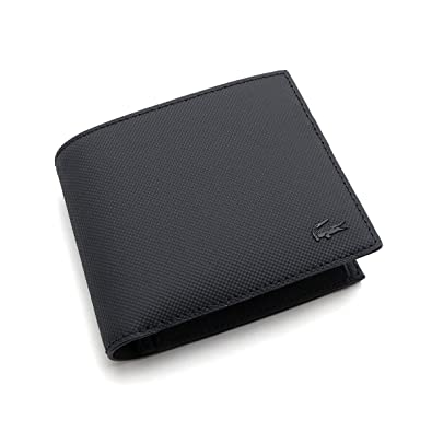 45d13f05e0be LACOSTE メンズ 財布 LACOSTE NH2309 ブラック 小銭入れ付き カード入れ 二つ折り財布 折り財布