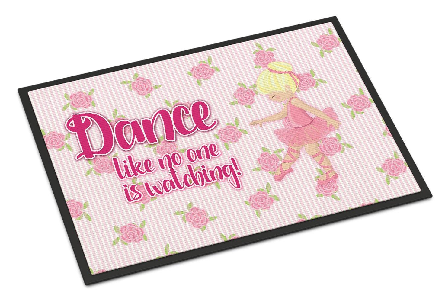 Carolines Treasures Ballet in 8 Counts Brunette Doormat 18 H x 27 W Multicolor