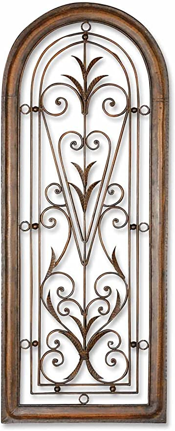 Leaf Scroll Frieze Wall Sculpture Plaque Home Decor