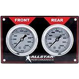 Allstar ALL80172 Two 1000 PSI Liquid-Filled Horizontal Mount Brake Bias 2-Gauge Panel Kit