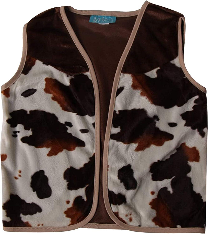 Making Believe Kids Brown Cowboy or Cowgirl Western Dress Up Vest Choose Size