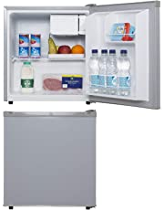SIA TT01SV 47 Litre Silver Counter Table Top Mini Drinks Fridge With Ice Box