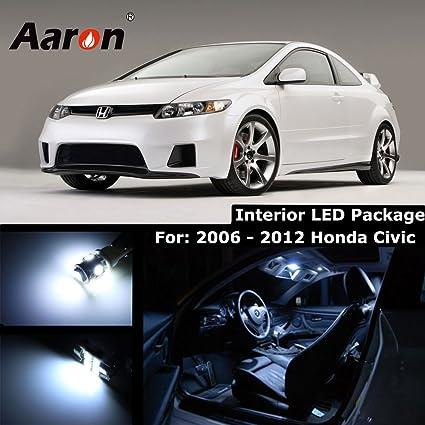 Aaron Cool White Interior Lighting LED Kit For 2006 2012 Honda Civic (Map X2