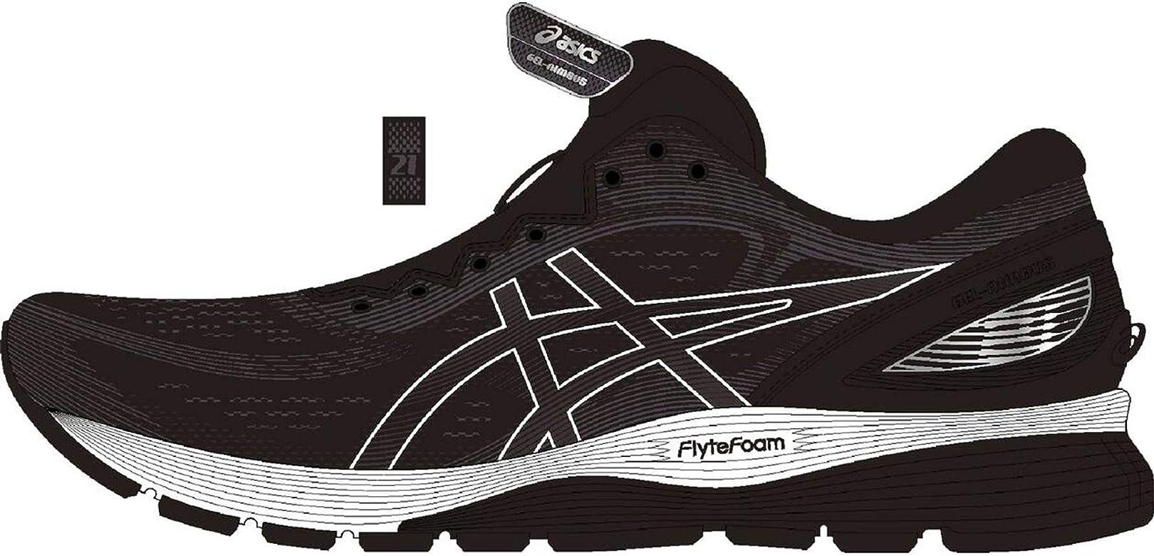 ASICS Gel-Nimbus 21 - Zapatillas deportivas para hombre, color blanco y negro, color Negro, talla 42.5 EU: Amazon.es: Zapatos y complementos