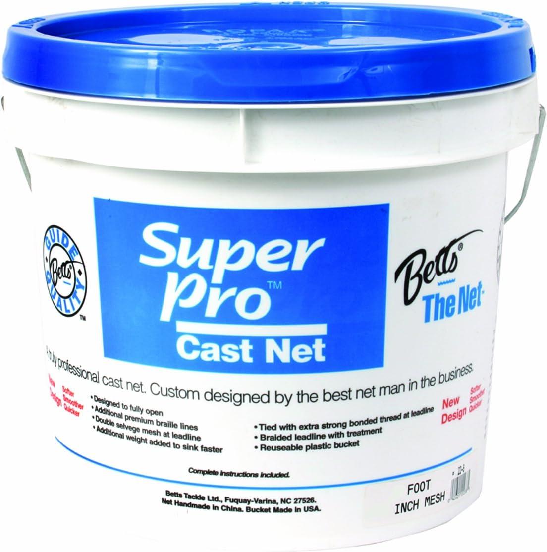 Betts Super Pro 12-foot Mono Bait Netに3 / 8インチメッシュ