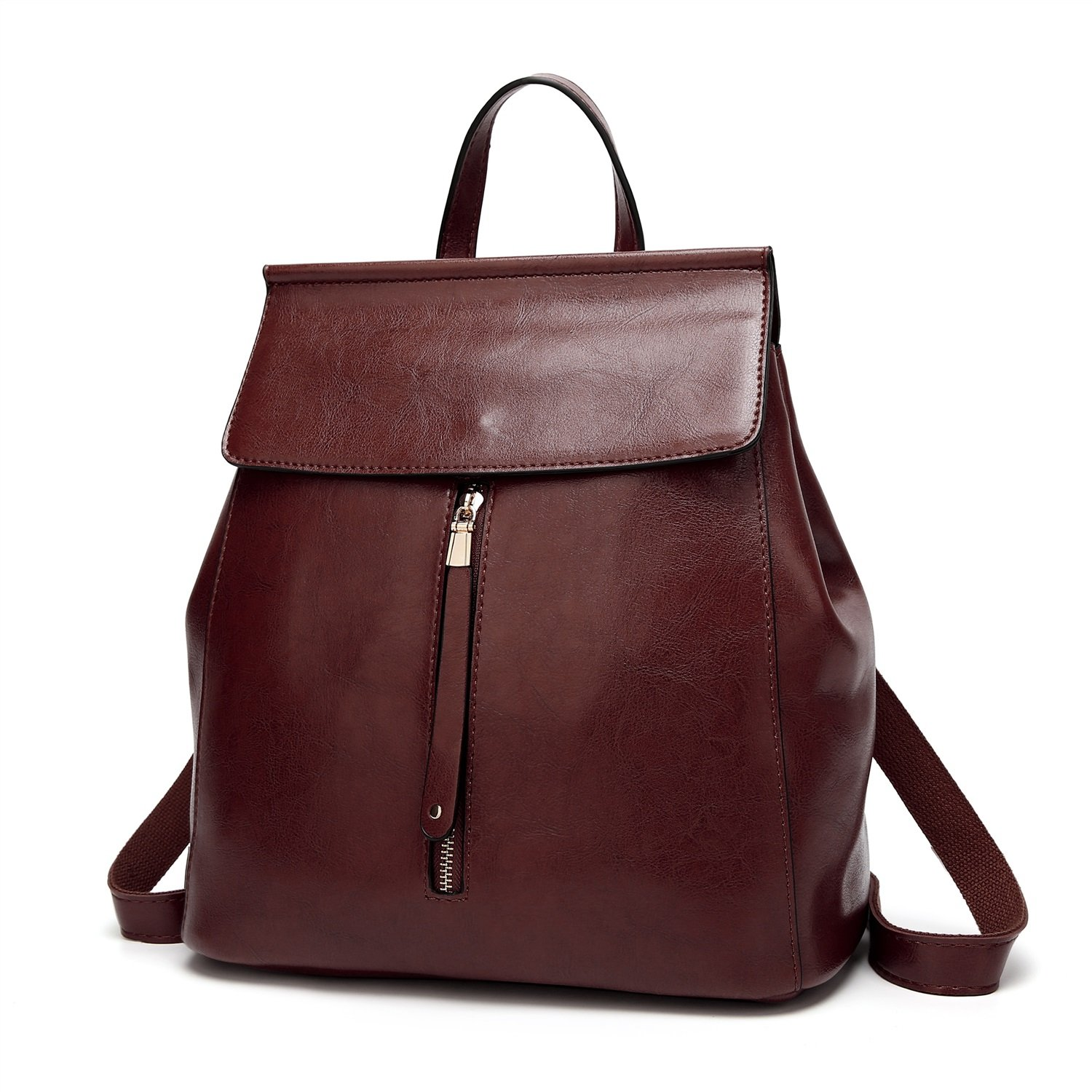 Elegdy Womens Backpack Casual Womens Bag Simple Fashion PU Leather Retro Backpack Fashion Color : Gray, Size : M