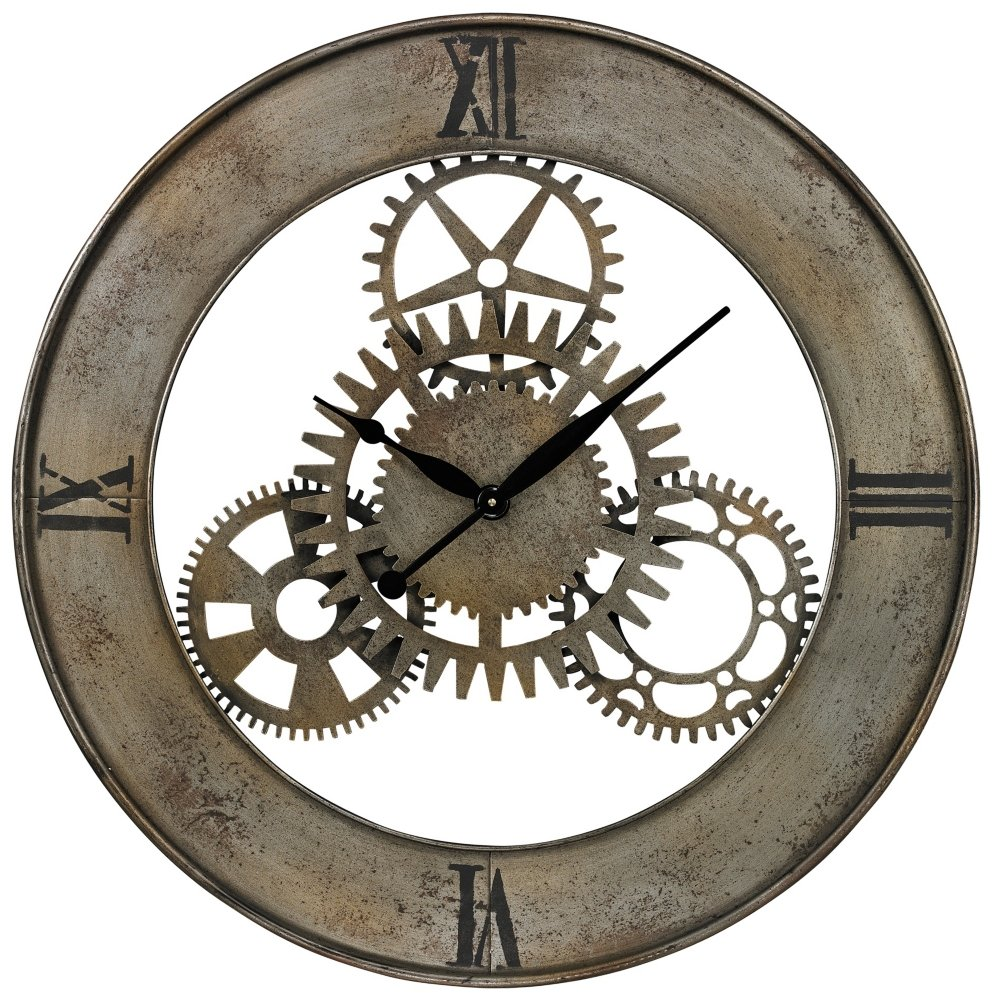 Amazon sterling industrial cog wall clock home kitchen amipublicfo Gallery