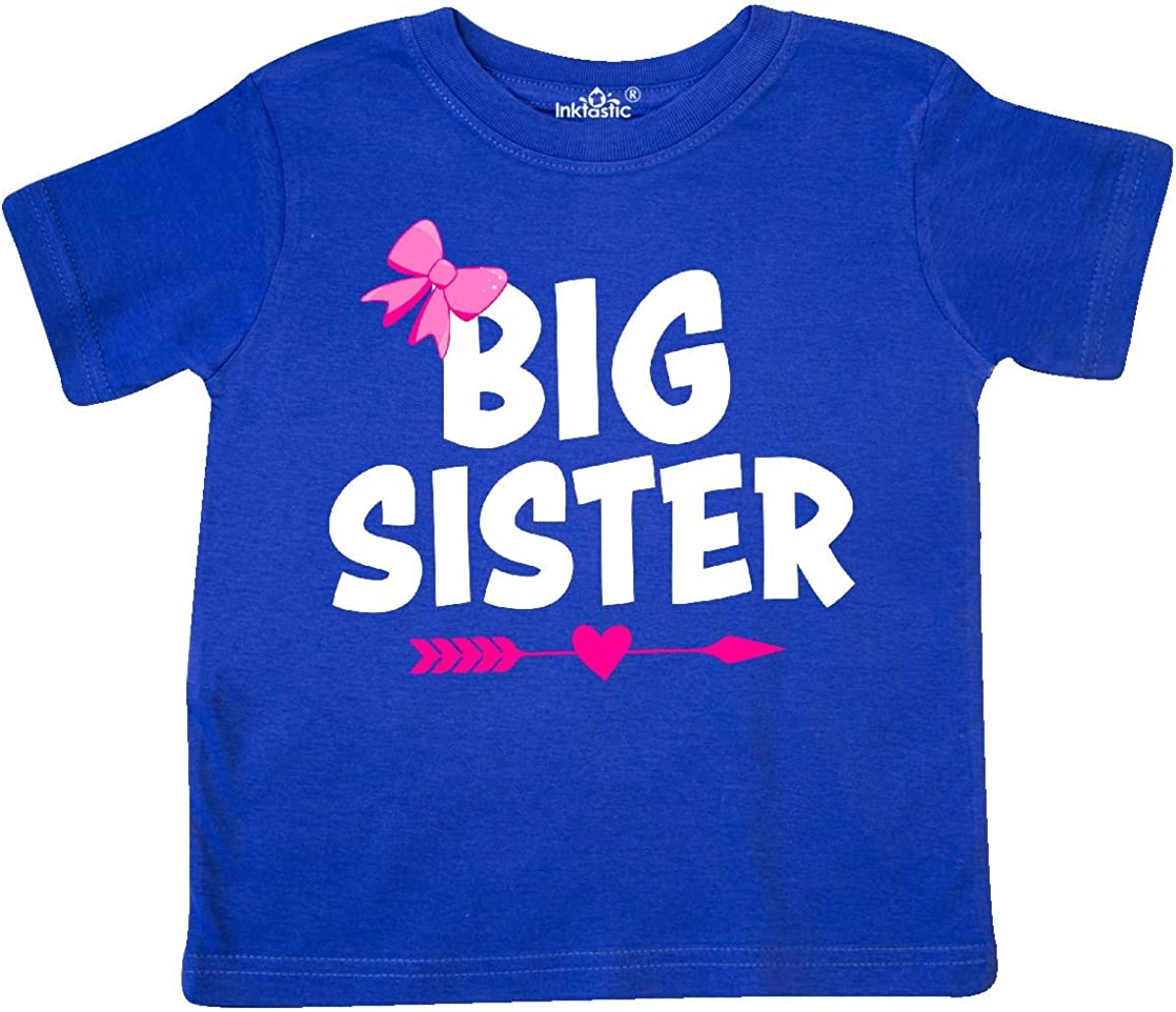 inktastic Big Sister with Bow and Arrow Toddler T-Shirt