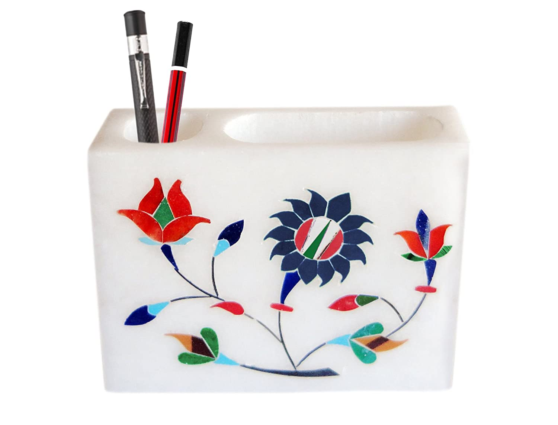 Bleistift Und Visitenkartenhalter Aus Marmor Mit Eleganten