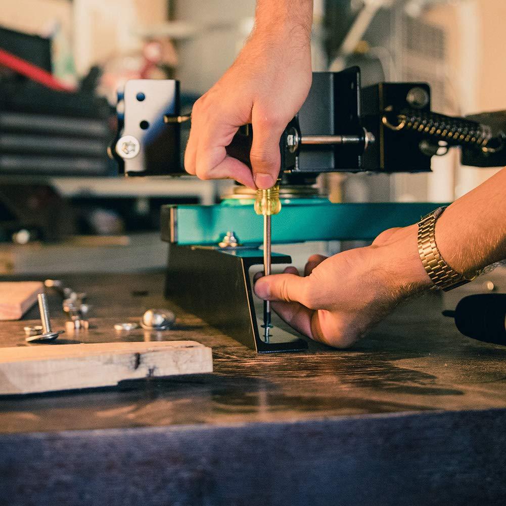Finition zingu/ée 110 pi/èces assortiment de vis /à t/ôle vis autoperceuse /à t/ête modifi/ée 4,8 mm x 16//19//25//32//38//50 mm Vis autoperceuses /à t/ête wafer