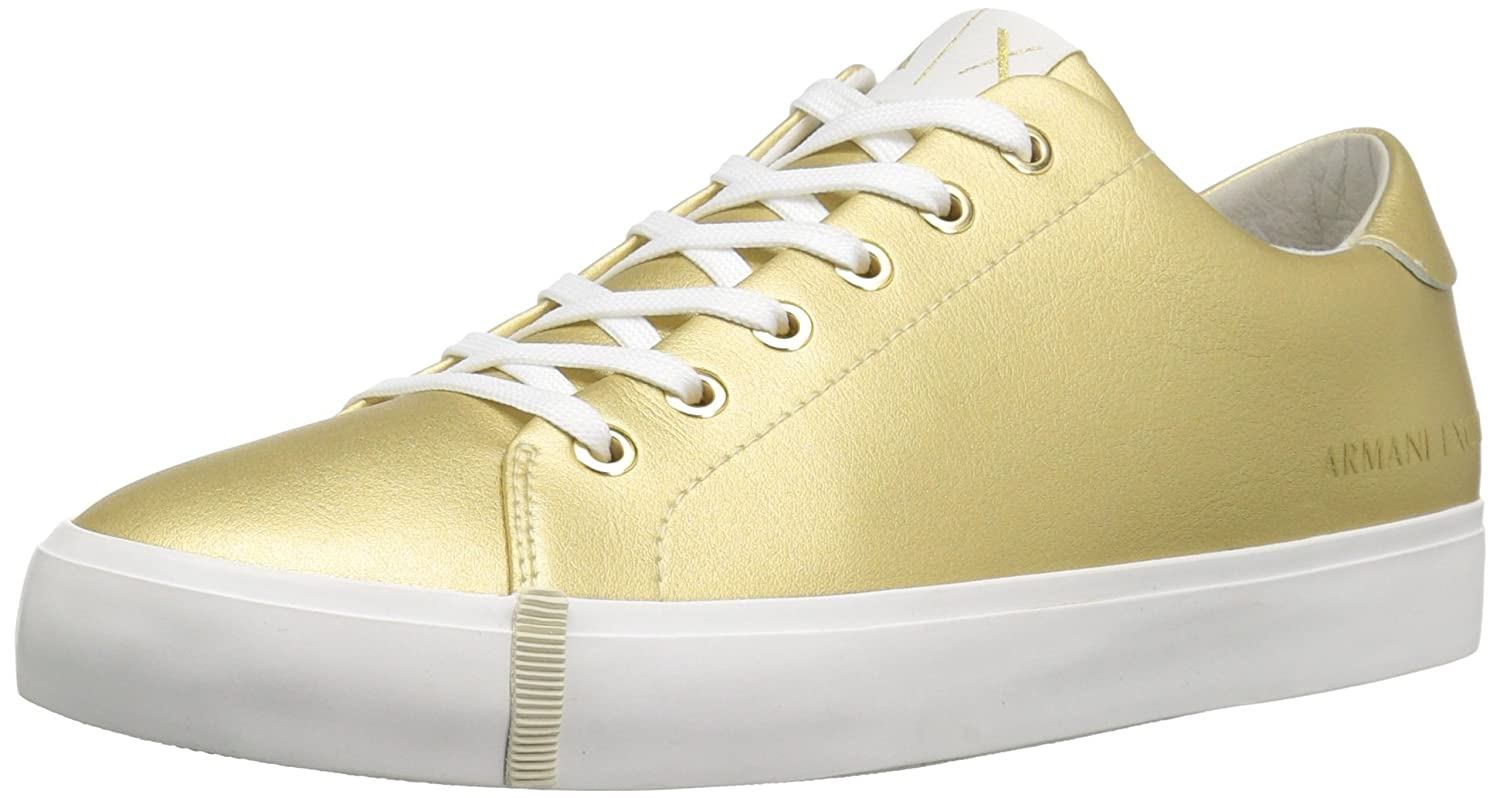 A|X Armani Exchange Women's Eco Leather Fashion Sneaker B01MU2B00Q 6 B(M) US|Gold