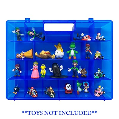 Life Made Better Toy Action Figure Organizer Case, Compatible with Mario Bros Action Figures, Toys Accessories by LMB: Toys & Games