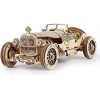 Deals on ROBOTIME 3D Wooden Puzzle Collectible Model Car Grand Prix