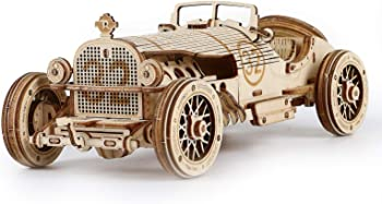 Robotime 3D Wooden Puzzle 1:16 Scale Model Grand Prix Car
