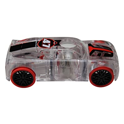 Award Winning Marble Racers Light Up 1:43 Scale Race Car with Quick Shot Pull-Back Motor with Red Wheels: Toys & Games