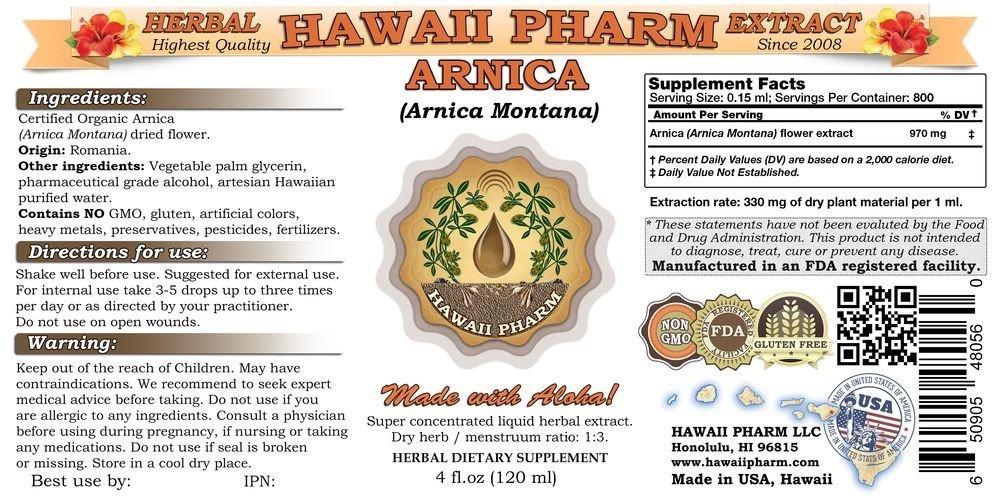 Arnica Liquid Extract, Organic Arnica Arnica Montana Dried Flowers Tincture 32 oz