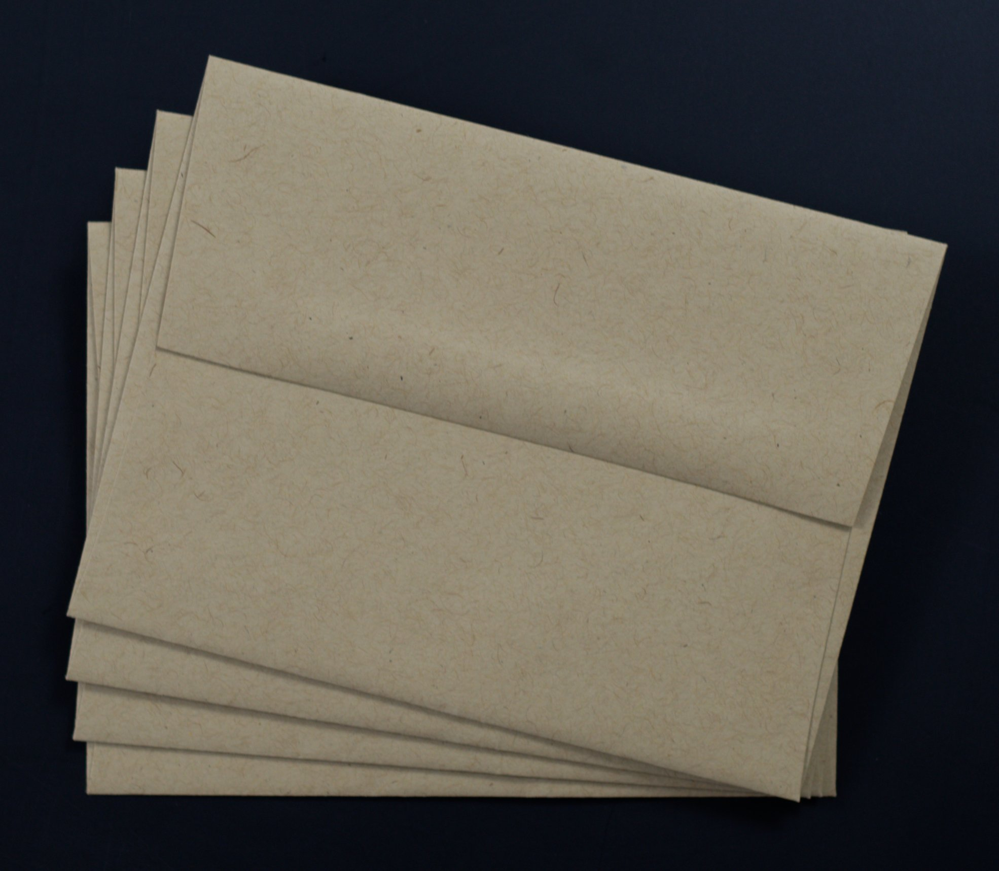 A2 Invitation Envelopes - [PaperPapers] Basic Fiber-Speckle Kraft - 250 Pk by Paper Papers