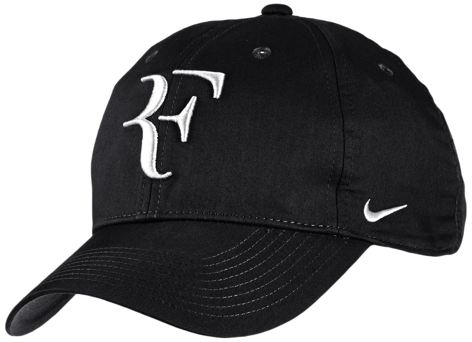 Mens Nike Premier RF Hybrid Adjustable Tennis Hat Black/White 371202-012