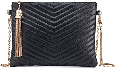 New Plain Faux Leather Zipper Clutch Bag Womens Fashion Handbag Designer Evening