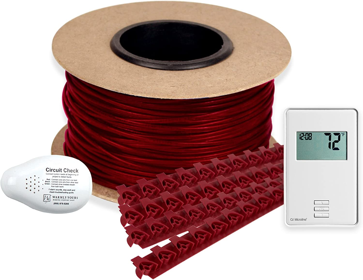WarmlyYours TCT120-KIT-ON-040 Tempzone Electric Floor Heating Cable Kit with Strips, 40 ft. (10 sq. ft.)