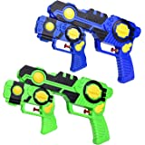 Fun Little Toys Summer Watergun Squirt Toys for Kids, 2-in-1 Water Soaker Blaster Fight Toys, Water Game for Kids, Swimming Pool Toys, Pool Party Favors