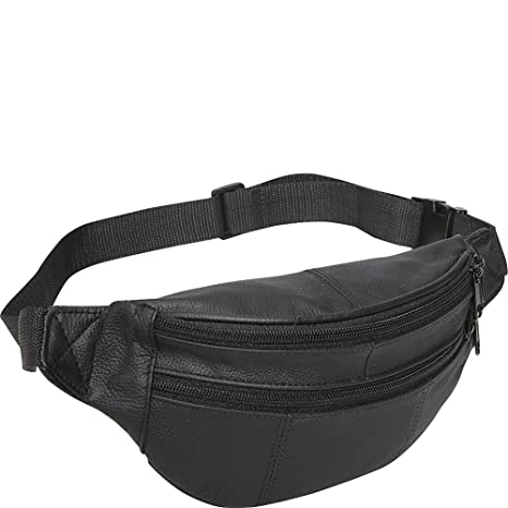 3d4371d01b9 AmeriLeather Leather Fanny Pack (Black)