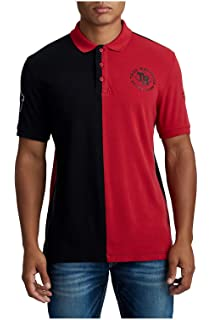 dac07c2f Amazon.com: True Religion Men's Horseshoe Logo Long Sleeve Polo ...
