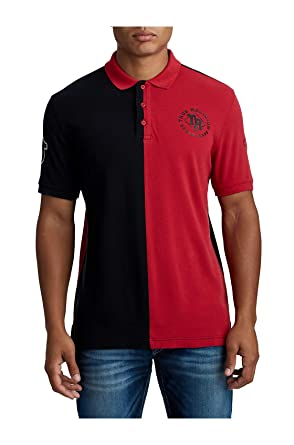3ff768797e5 Amazon.com: True Religion Men's Split Panel Half Polo Shirt: Clothing
