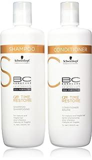 0fcdf1add3 Schwarzkopf BC Time Restore Shampoo and Conditioner Liter Duo, 67.6 Ounce