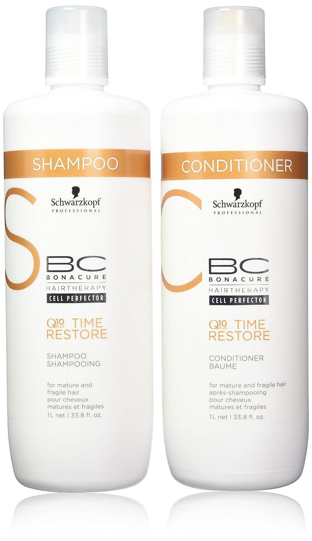 e474a8e47c Amazon.com : Schwarzkopf BC Time Restore Shampoo and Conditioner Liter Duo,  33.81 Ounce : Shampoo And Conditioner Sets : Beauty