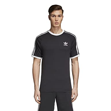 Amazon 3 stripes Clothing Adidas Store Heren Originals Tee Bij 0ywmvON8n