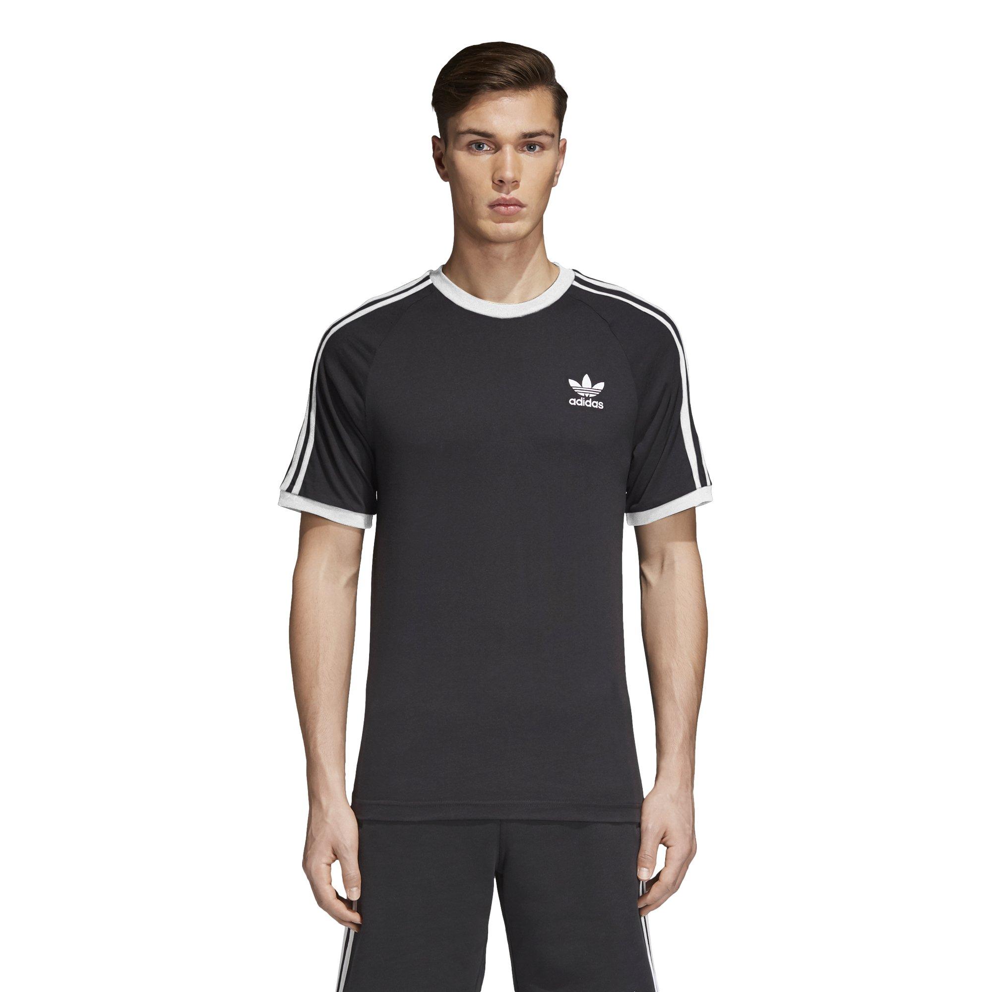 Adidas Men's Originals 3 Stripes Tee, Black, M